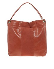 Urban Code Embossed Leather Tote Bag