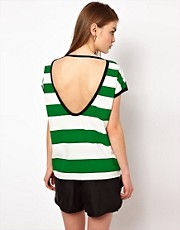 Markus Lupfer Striped Backless Top