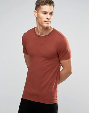 ASOS Muscle T-Shirt With Crew Neck In Red