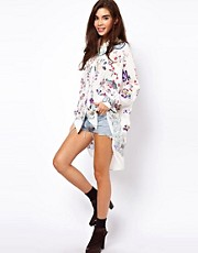 ASOS PREMIUM Shirt With Oriental Craft Embroidery