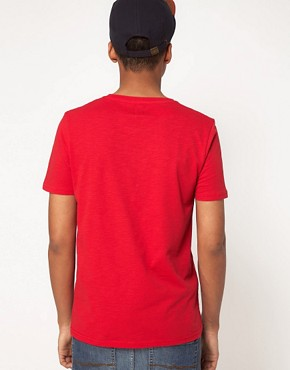 Image 2 ofASOS T-Shirt With Printed Woven Pocket