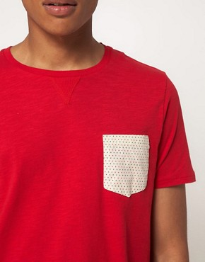 Image 3 ofASOS T-Shirt With Printed Woven Pocket