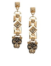 ASOS Leopard Chain Drop Earring