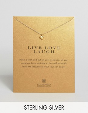 Dogeared Gold Plated Live Love Laugh Full Heart Make A Wish Necklace
