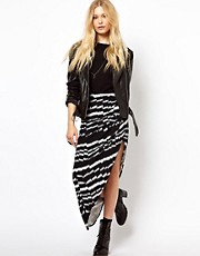 River Island Drape Side Maxi in Print