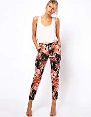 Oasis Oriental Floral Print Trouser