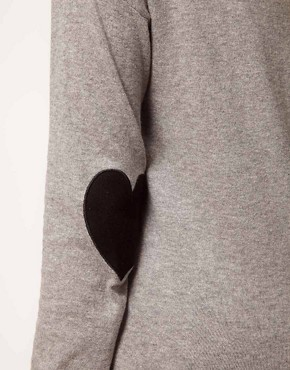 Image 3 of ASOS Heart Elbow Patch Jumper