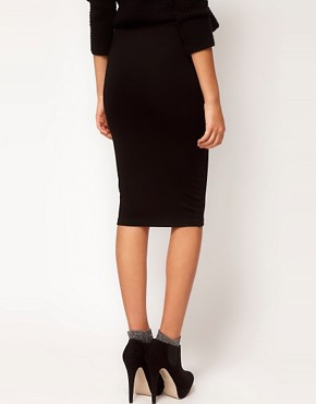 Image 2 ofASOS Ponte Pencil Skirt with Zips