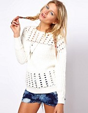 ASOS Premium Crochet Jumper