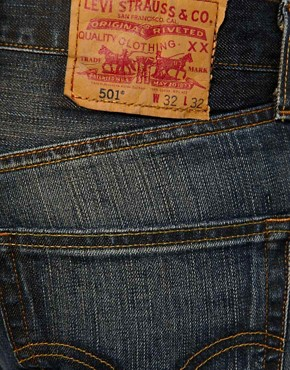Image 3 ofLevis Jeans 501 Straight Dusty Black Wash
