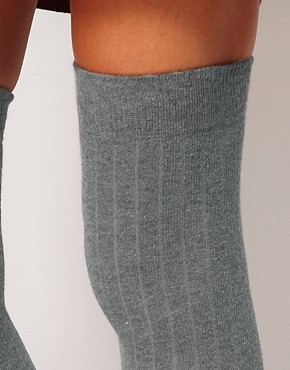 Image 4 ofASOS Ribbed Over The Knee Sock