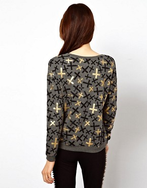Image 2 ofASOS Sweatshirt with Metallic Crosses