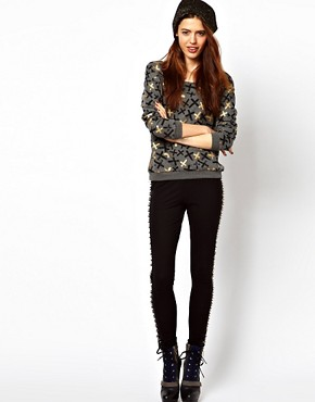 Image 4 ofASOS Sweatshirt with Metallic Crosses