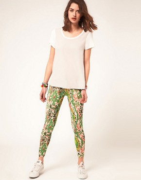 Bild 1 von ASOS  Leggings mit Klecks-Muster