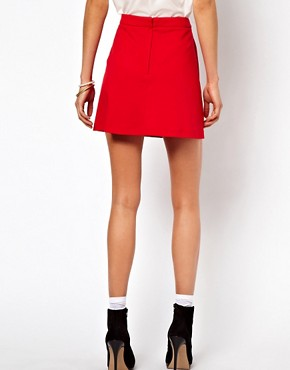 Image 2 ofASOS A-Line Skirt in Ponte