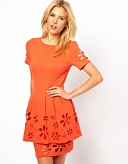 ASOS Skater Dress with Daisy Cutwork