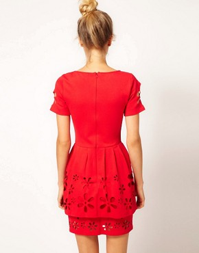 Image 2 ofASOS Skater Dress with Daisy Cutwork