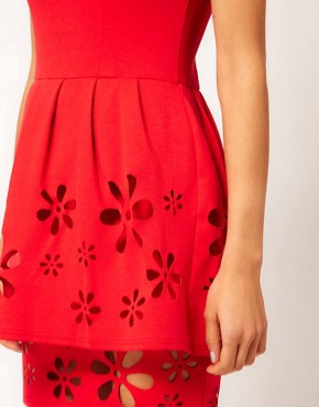 Image 3 ofASOS Skater Dress with Daisy Cutwork