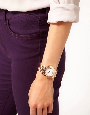 Image 3 ofMARC BY MARC JACOBS ROSE GOLD BRACELET WITH WHITE FACE WATCH