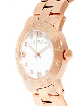 Image 4 ofMARC BY MARC JACOBS ROSE GOLD BRACELET WITH WHITE FACE WATCH