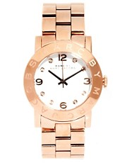 Marc By Marc Jacobs Rose Gold Bracelet Watch With White Face