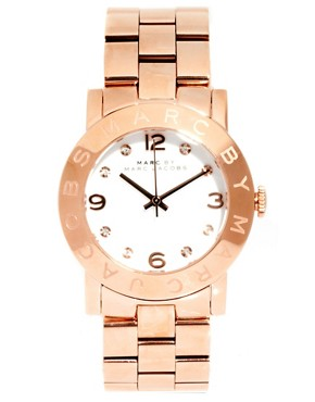 Image 1 ofMARC BY MARC JACOBS ROSE GOLD BRACELET WITH WHITE FACE WATCH