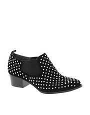 Bertie Belintos Black Studded Western Shoes