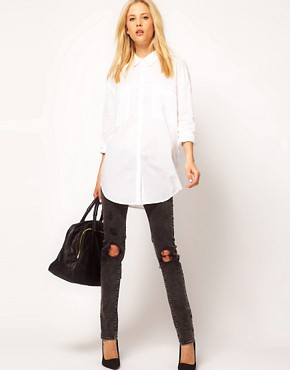 Image 4 ofASOS Oversized Pocket Boyfriend Shirt