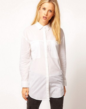 Image 1 ofASOS Oversized Pocket Boyfriend Shirt
