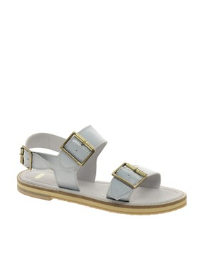 Image 1 ofASOS FEDERICO Leather  Flat Sandals