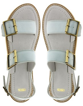 Image 3 ofASOS FEDERICO Leather  Flat Sandals