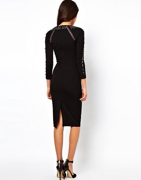 Image 2 ofASOS Midi Dress With Studding And Jewels