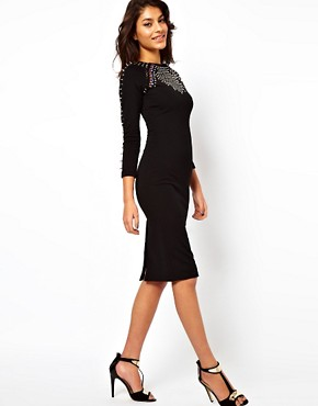 Image 4 ofASOS Midi Dress With Studding And Jewels