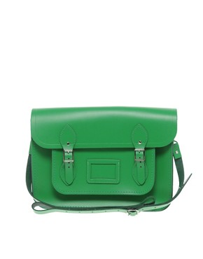 Image 1 ofCambridge Satchel Company Green 14&quot; Satchel