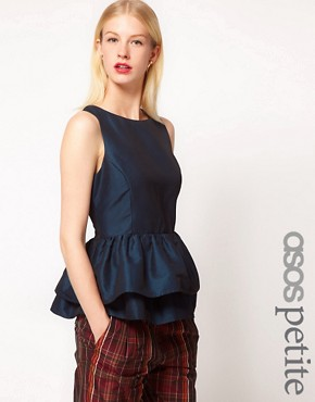 Image 1 ofASOS PETITE Top With Tutu Peplum