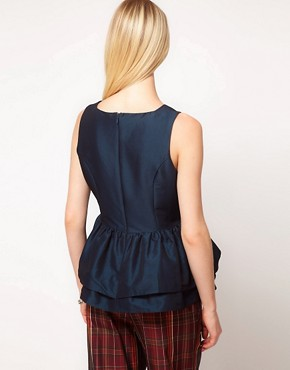 Image 2 ofASOS PETITE Top With Tutu Peplum
