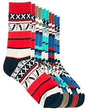 Jack &amp; Jones Farol Dann 5 Pack Socks