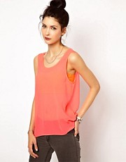 2nd Day Lili Tank in Neon Chiffon