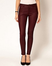 Oasis Zip Front Coated Jean