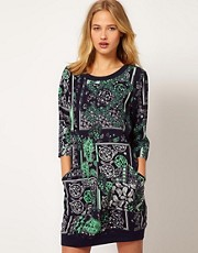 Selected Printed Dress with Pockets