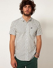 RVCA Shirt Short Sleeve All Over Print Slim Fit