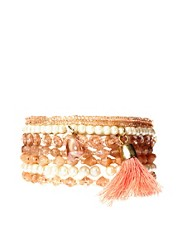 Oasis Beaded Tassel Bracelet Multi Pack