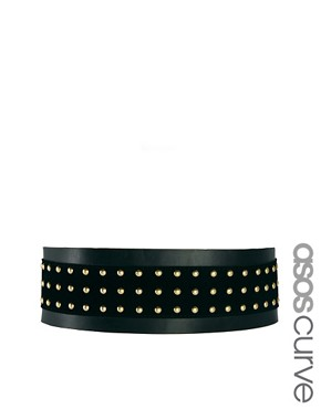 Image 1 ofASOS CURVE Wide Stud Panel Waist Belt