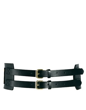 Image 2 ofASOS CURVE Wide Stud Panel Waist Belt