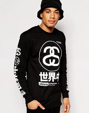 Stussy Long Sleeve T-Shirt With Japan Print