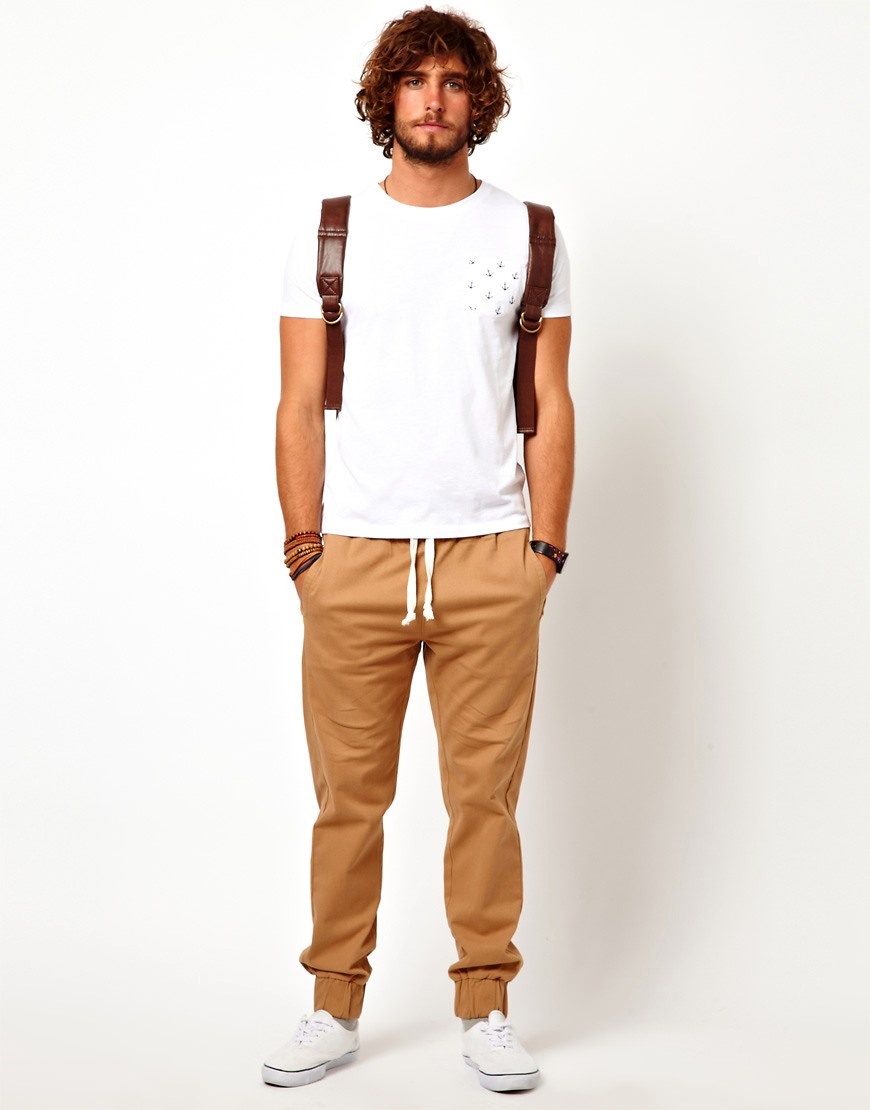 Image 4 of ASOS Heavyweight Cuffed Joggers