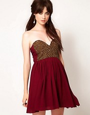Vestido con gargantilla de cuentas Last Dance de One Teaspoon