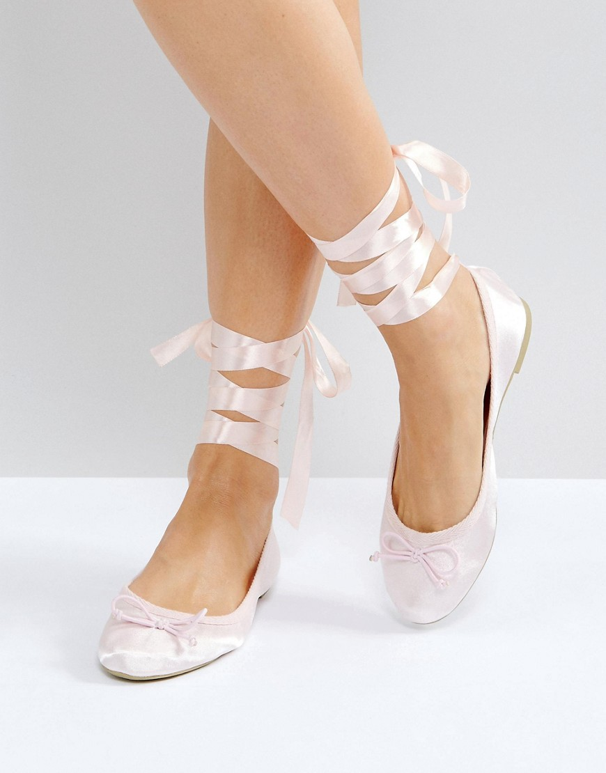 Vero Moda Tie Up Ballerina Pumps thumbnail