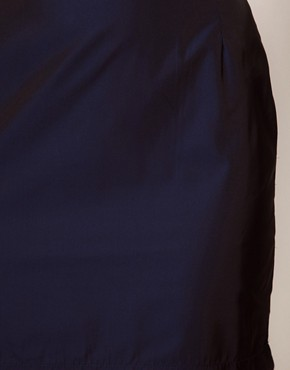 Image 3 ofWhite Tent Mini Skirt In Navy Taffeta