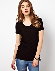 By Zoe Jersey Shell Top with Pleating